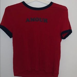 AMOUR RED CUTE SHIRT